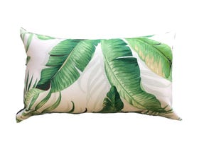 Palmiers in Verde  Outdoor Euro Bolster Cushion
