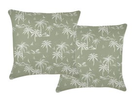 Postcards Sage 60cm Outdoor Cushion 2 Pack