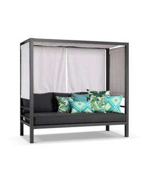 Rio Outdoor Daybed -Charcoal /Sooty