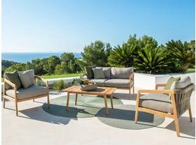 Ritz 4pc Teak Outdoor Lounge Setting