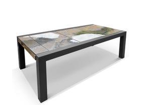 Domiziani Brando Rock Lava Stone 220x110 Dining Table