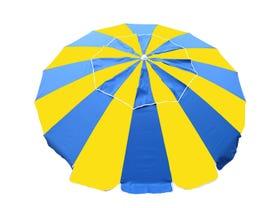 Carnivale Beach Umbrella -Royal / Yellow -MELB ONLY