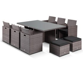 The Rubix 6 with chairs and ottomans