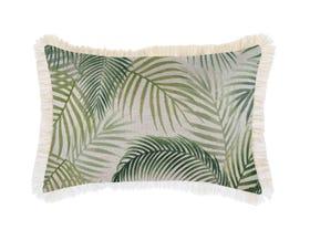 Seminyak Green with Fringe 35x50cm Outdoor Cushion