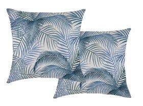 Seminyak Blue 60cm Outdoor Cushions 2 Pack