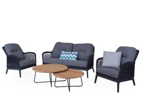 Serang 5pc Rope Outdoor Lounge Setting