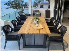 Laguna Table with Serang Chairs 7pc Outdoor Dining Setting