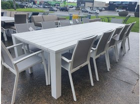 FLOOR MODEL- Capri Table with Sevilla Chairs 13pc Outdoor Dining Setting