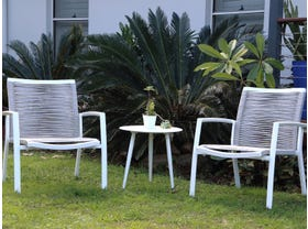Sevilla Rope Arm Chair 3pc with Syros Side Table