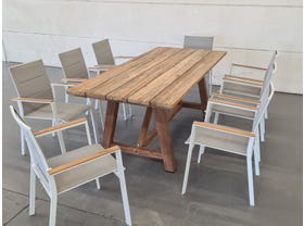 Sophia Recycled Teak Table with Triana Chairs 9pc -SYD ONLY
