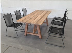 Sophia Recycled Teak Table with Viola Chairs 7pc -SYD ONLY