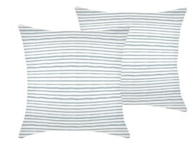 Paint Stripes  Smoke 60cm Outdoor Cushions 2 Pack