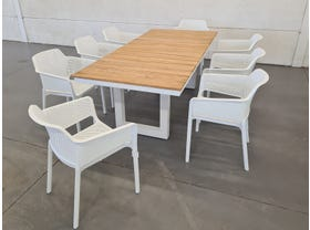 Switch Table with Bailey  Chairs 9pc Outdoor Setting -SYD ONLY
