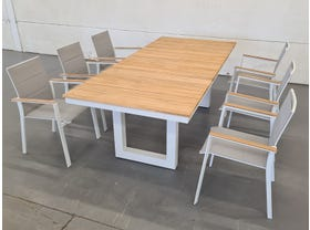 Switch Table with Triana Chairs 7pc Outdoor Setting -SYD ONLY