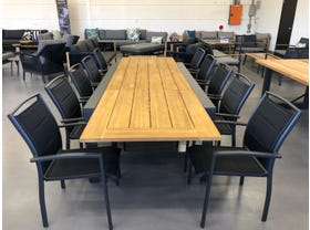 FLOOR MODEL - Mona Teak Extension Table with Verde Dining Chairs