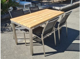 FLOOR MODEL -Marseille Table with Pacific Chairs 5pc Outdoor Dining Setting