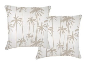 Tall Palms Beige 60cm Outdoor Cushions 2 Pack