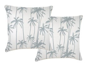 Tall Palms Smoke 60cm Outdoor Cushions 2 Pack