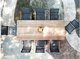 Laguna 240 Table with Pacific Chairs -9pc Outdoor Dining Setting