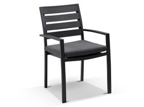 Corfu with twain chairs