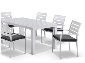 Adele table with Twain Chairs 7pc Outdoor Dining Setting