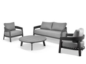 Ubud 4pc Aluminium Outdoor Lounge Setting