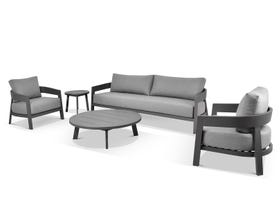 Ubud 5pc Aluminium Outdoor Lounge Setting