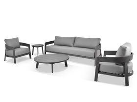 Ubud 5pc Aluminium Outdoor Lounge Setting