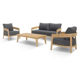 Ubud 4pc Teak Outdoor Lounge Setting