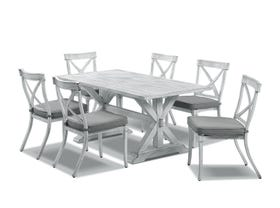 Vogue table with Valencia  Chairs  - 7pc Outdoor Dining  Setting
