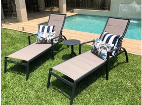 Verde Sunlounger 3pc Set with Reef Side Table - NSW ONLY