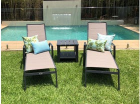 Verde Sunlounger 3pc Set with Adele Side Table -NSW ONLY