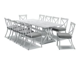 Vogue table with Valencia Chairs  - 11pc Outdoor Dining Setting