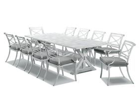 Vogue 11pc Outdoor Dining Setting