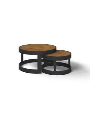 Aspen Teak Round Coffee Table Set