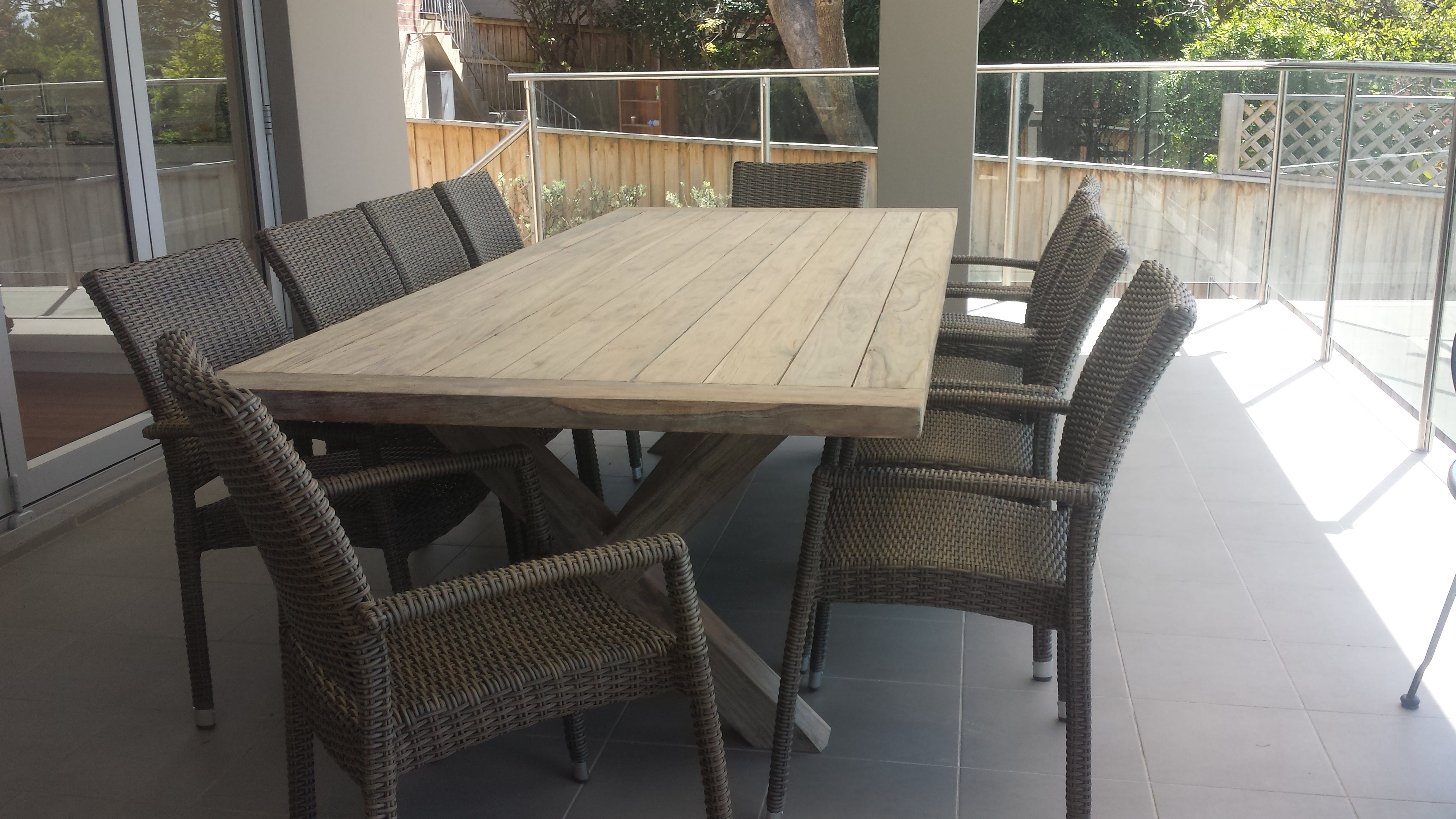 Beautiful Whitewashed Teak Outdoor Furniture