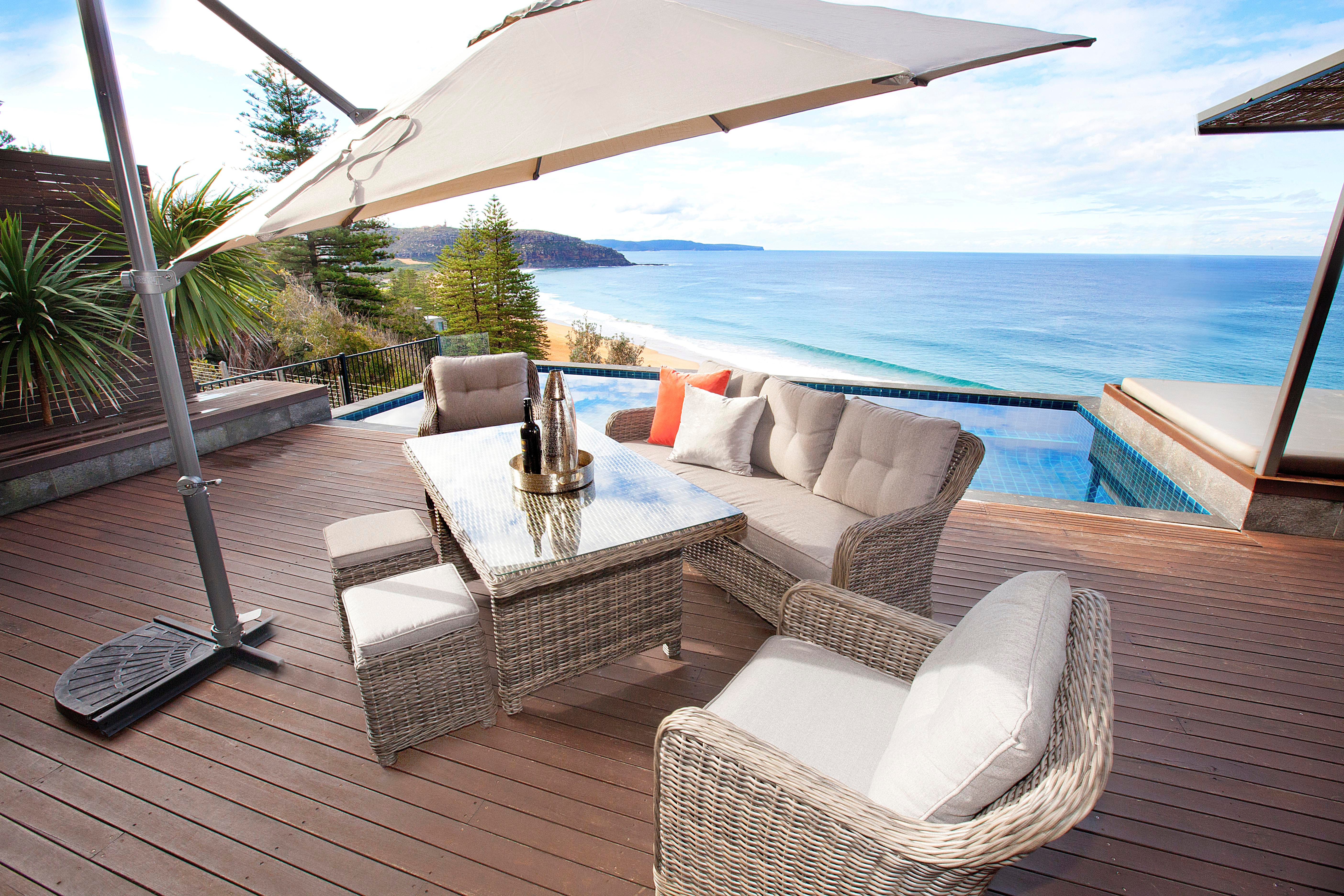 stay cool with outdoor umbrellas. Black Bedroom Furniture Sets. Home Design Ideas