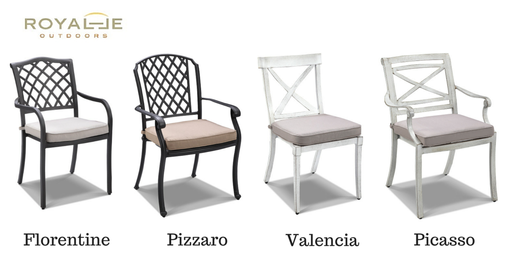 Charming Cast Aluminium Chairs From Royalle Part 29
