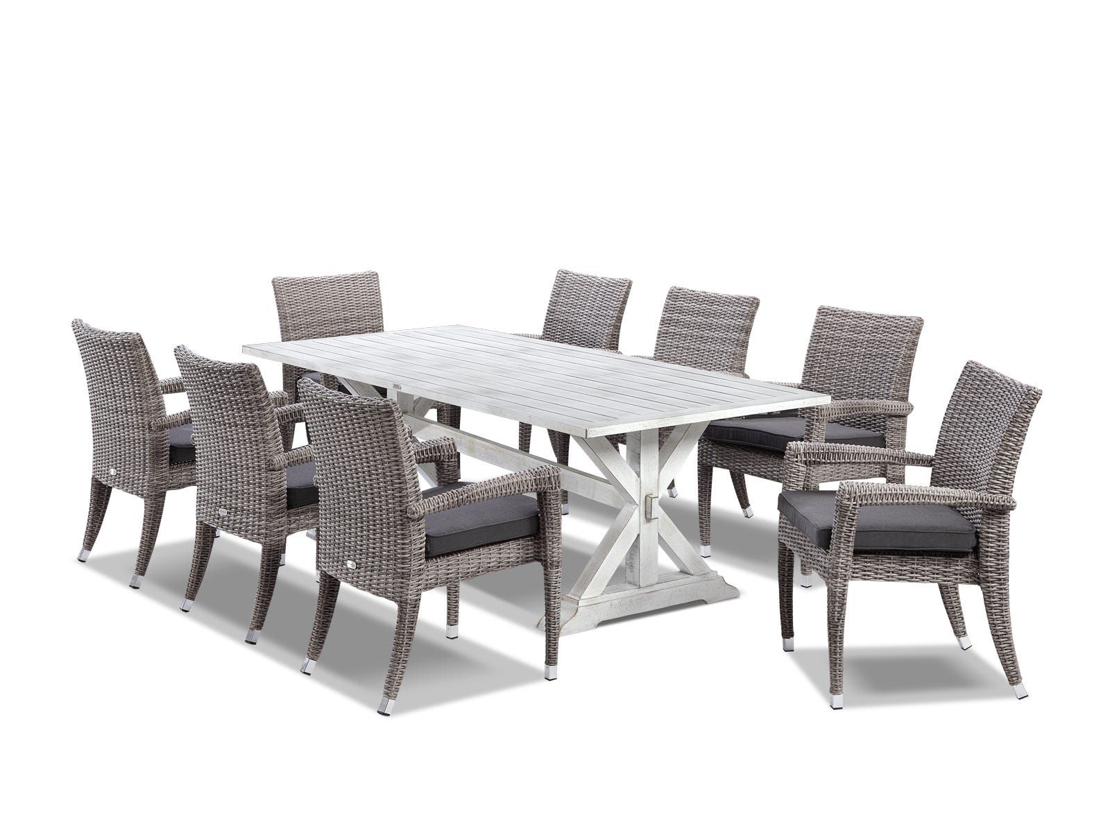 With The Look Of Weathered Timber But The Performance And Low Maintenance  Benefits Of Aluminium These Tables Really Deliver The Ideal Outdoor ...