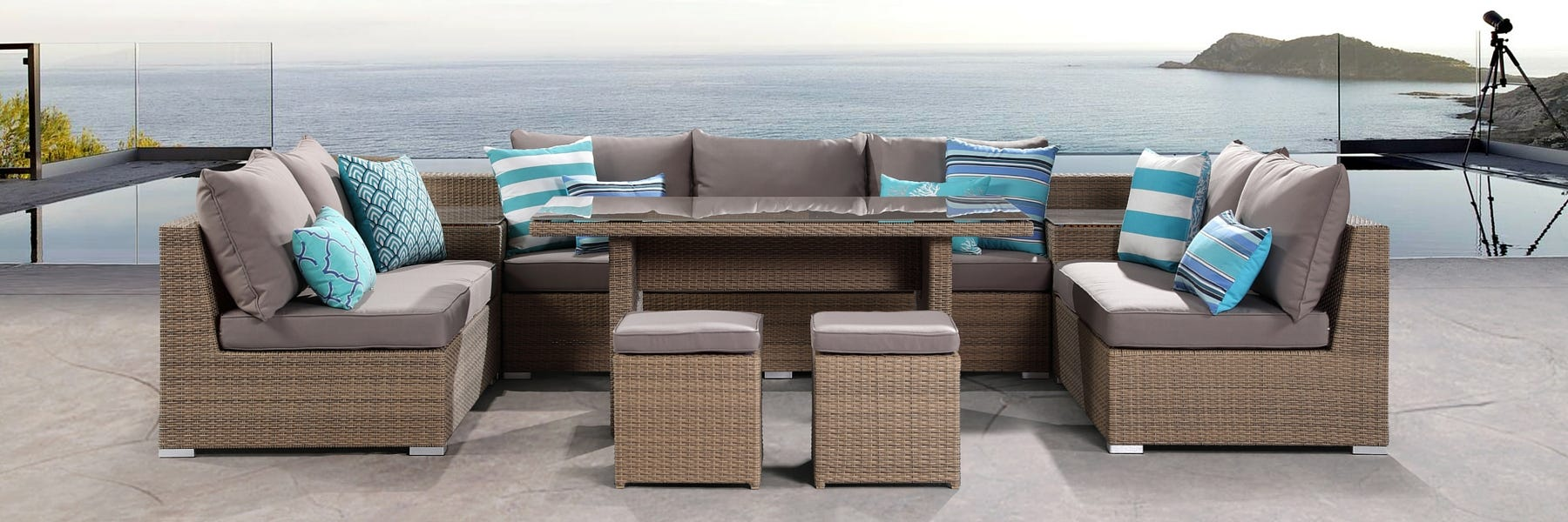 Outdoor furniture evolution - dining out in comfort