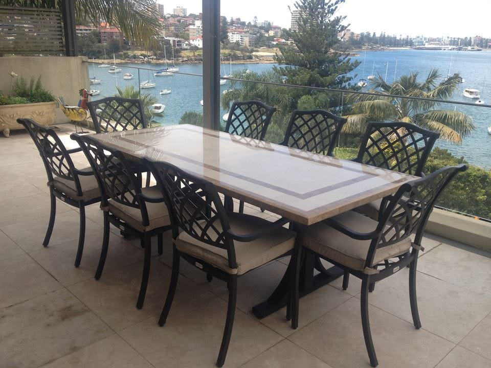 natural stone outdoor tables rh outdoorelegance com au