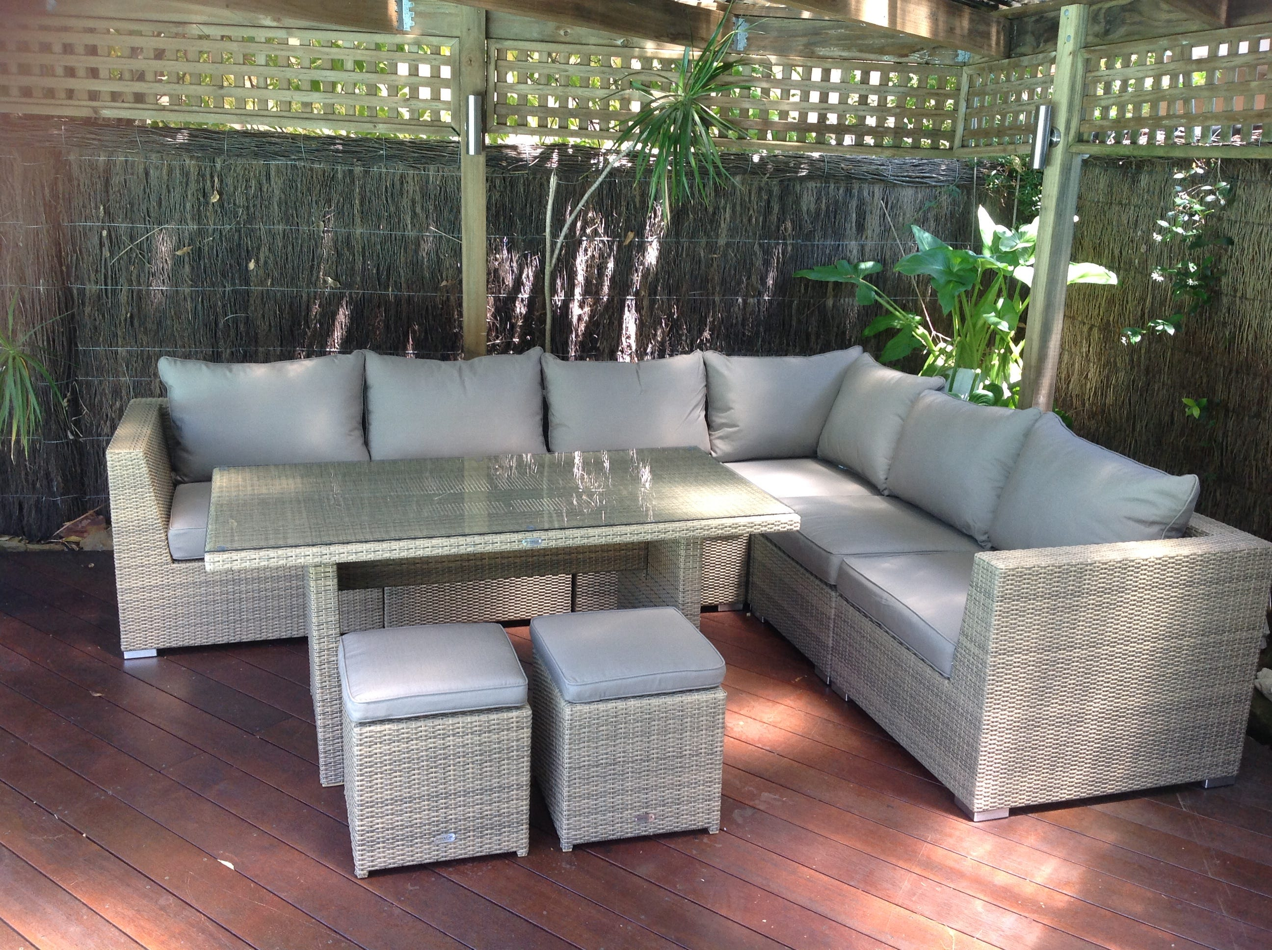 Outdoor furniture evolution dining out in comfort for Outdoor porch furniture