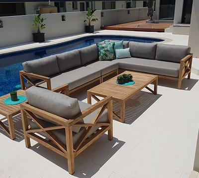 Teak Outdoor  Lounges Brisbane