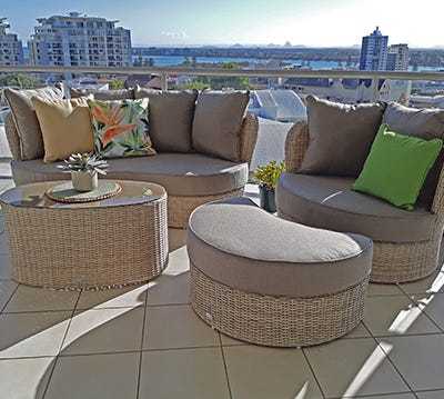 Outdoor Wicker Lounges Sunshine Coast