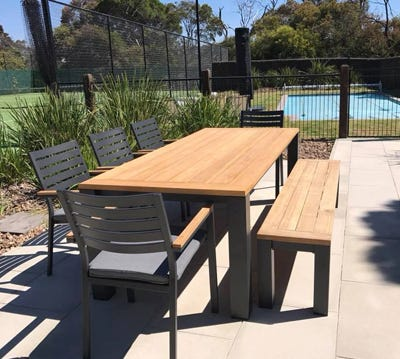 Teak Outdoor Settings