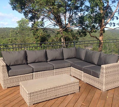 Wicker outdoor lounges newcastle